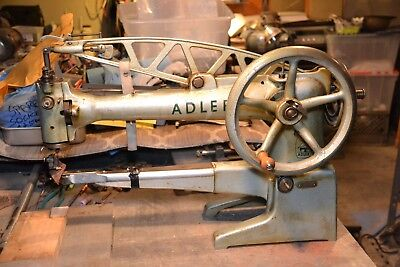 Adler patcher sewing machine leather shoe long arm 30-7 industrial harness