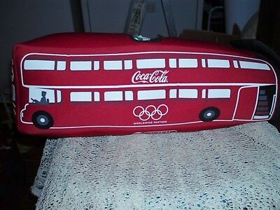 Limited Edition! Rare Vintage Coca Cola 2012 Olympic Foam Bus 12 Pack Can Holder