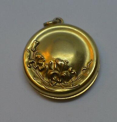 Antique Art Nouveau 14k Yellow Gold Locket BEAUTIFUL!