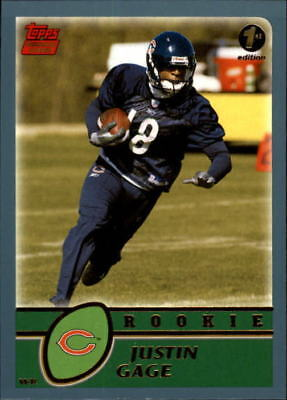 aaf70ee03bd 2003 Topps First Edition Chicago Bears Football Card  358 Justin Gage