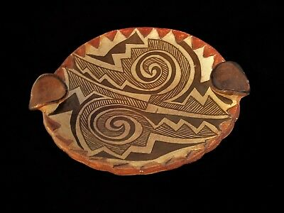 Vintage Native American Pottery Acoma Pueblo Ashtray