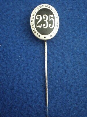 Germany: Silvered Bronze and Enamel Stickpin of the 235th Res. Inf. Regt.