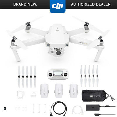 DJI Mavic Pro Alpine White Quadcopter Drone Fly More Combo With Three Batteries