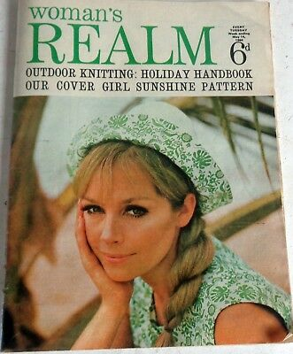 May 14 1968 Woman's Realm Magazine: Knitting Fiction Fashions: Postage Discount