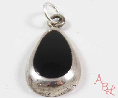 Barse Sterling Silver Vintage 925 Charm Black Onyx Pendant (3.4g) - 743736