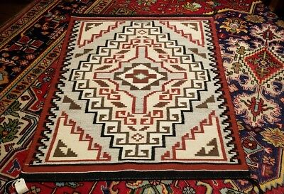 Very Fine Klagetoh Navajo Rug: Spirit Line Absolutely Outstanding Condition!!