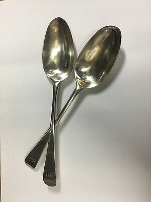 Silver Spoons - Hallmarked 1768 - Twin Set In Good Condition