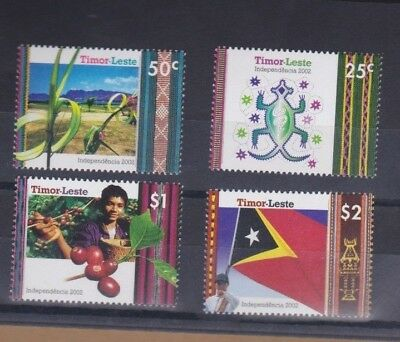 2002 Timor Leste Independence Issue Set 4 MUH Rare