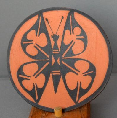Native American Santo Domingo Pueblo Indian Pottery Butterfly Plate Pedro Lovato