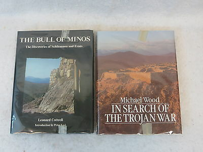 LOT OF 2   BULL OF MINOS & IN SEARCH OF THE TROJAN WAR  Archeology  Schliemann