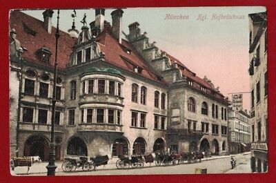 1900s Germany Heritage Postcard Muenchen to USA