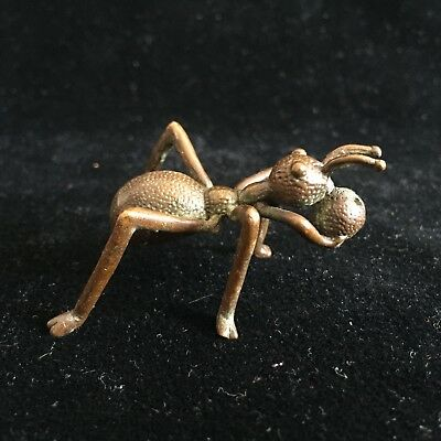 Chinese Handwork Old Antique Copper Rare Big Ant Move House Collectible Statue