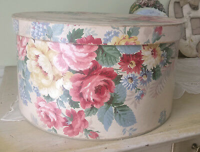 Best Antique Roses Wallpaper STOR-AID New York Vintage Huge Hatbox Containter