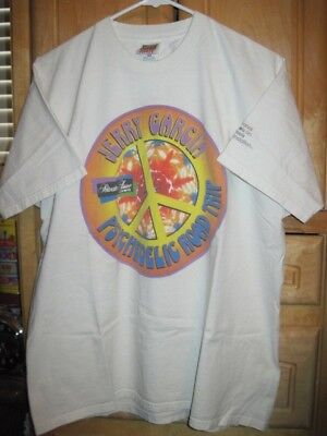 Jerry Garcia Psychedelic Road Trip XL Shirt '90s Fruit of the Loom Heavy Cotton