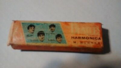 Beatles Hohner Harmonica vintage 1964 with box Germany nems