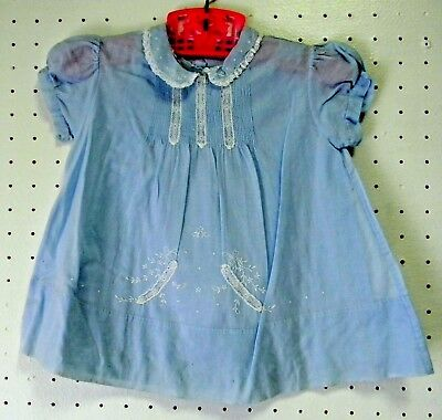 9pc Lot Antique Vintage Combed Cotton  Baby Clothes Hand Embroider Dress w/Slip