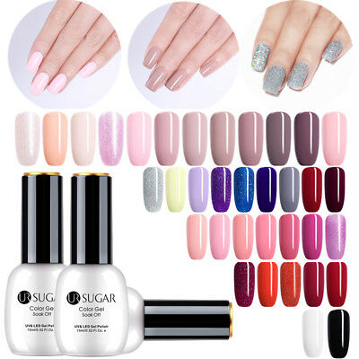 UR SUGAR 15ml Esmalte de Uñas UV Gel Soak off Nail Art UV Gel Polish Topcoat