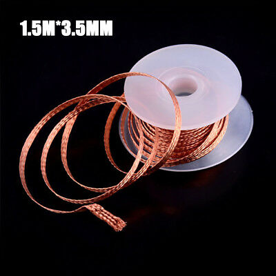 Top Quality 1.5M Desoldering Braid Solder Remover Wick Wire Repair Tool New