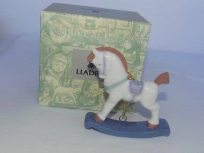 Lladro Spain Rocking Horse 90's Porcelain Ornament Retired Box #6262