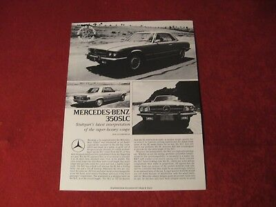 1972 Mercedes Benz 350SLC Original Showroom Sales Brochure Old Booklet Catalog