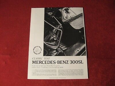 1968 Mercedes Benz 300SL Original Showroom Sales Brochure Old Booklet Catalog