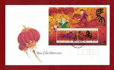 2002 Christmas Island Year of the Horse SG 506 FDC
