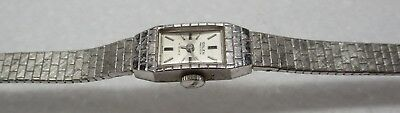 Vintage SOLID 14K WHITE GOLD Swiss Ladies Mechanical Watch by GRUEN - GORGEOUS!