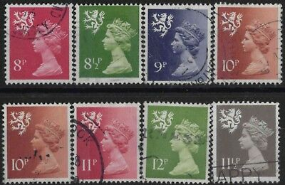 z907) G.B.- Scotland - Machins. 1971/93. Used.  Small Group of 8