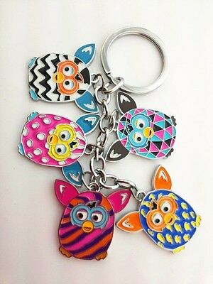"2 FURBY BOOM 5"" Cute Owl Compact Travel  Keychain Top Xmas Gift Idea Ship US"