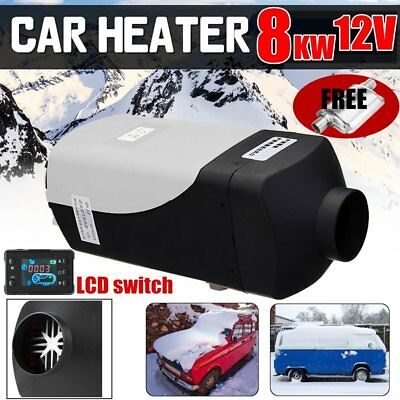 8KW 12V Car Auto Air Diesel Heater Fuel Heating Parking Warming + LCD Switch QQ