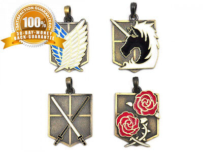 CoolChange Attack on Titan Box containing a collection of pendants :...