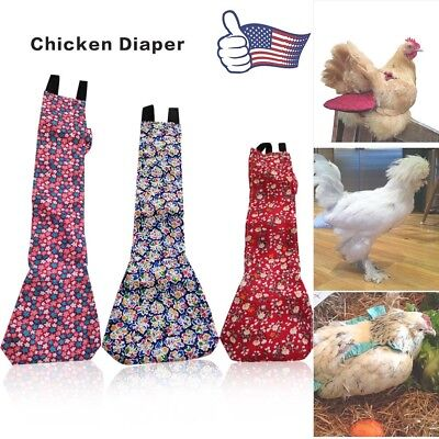NEW 3 Sizes Goose Duck Chicken Poultry Cloth Diaper Pet Adjustable Farm US Stock