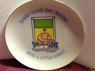 1981 Ziggy Plate Every Good Day Begins With A Little Love Tom Wilson U.p.s.