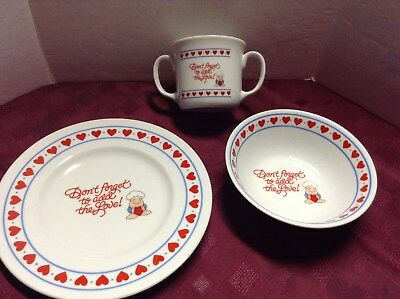 """1985 Ziggy Plate Bowl Cup Set """"don't Forget To Add The Love! Free Shipping"""