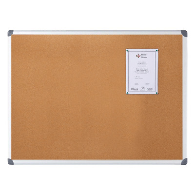 Aluminium Framed Cork Notice Board - 0.6 x 0.45m - C20306045UP-AF