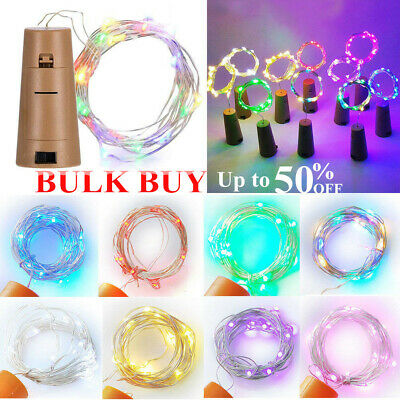 5Pcs 15 LED Cork Shaped LED Copper Wire String Lights Wine Bottle For Xmas Decor
