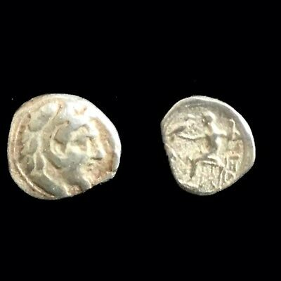 1 Coins & Paper Money Rare Unresearched Hemidrachm Greek Silver Coin 300 Bc