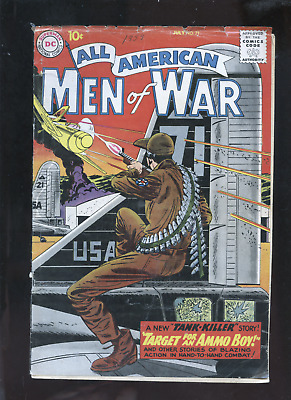 lot of 6 golden age war comic books,Our Fighting Forces,G.I.Combat,Men of War