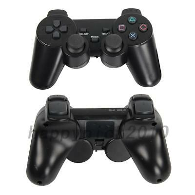 2Pcs Black Wireless Shock Game Joypad Gamepad Controller for Sony PS2 US STOCK