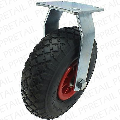 EXTRA LARGE FIXED CASTOR WHEEL HEAVY DUTY TYRE HOLDS 130Kg Huge Rubber Caster