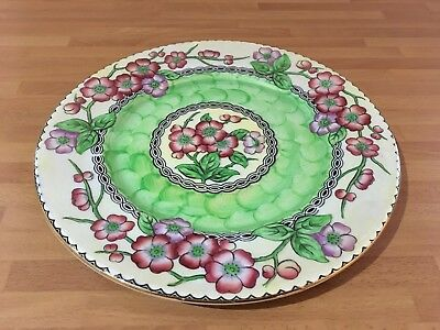 vintage maling 11.1/4ins charger / display plate may bloom design ref 01