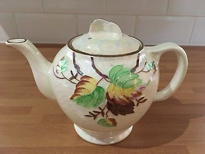 vintage maling ware for ringtons tea pot autumn leaf pattern circa 1950