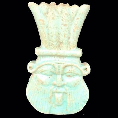 Beautiful Ancient Egyptian God Bes Amulet 300 Bc (12)