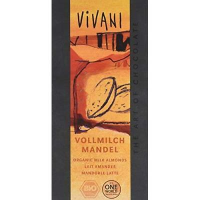 Vivani Organic Milk Chocolate with Almonds 100 g (Pack of 5)