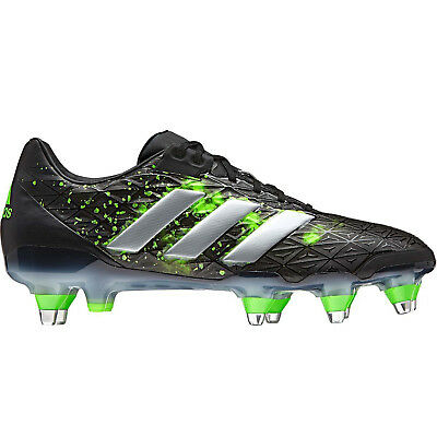 adidas Performance Mens adipower Kakari Soft Ground Rugby Training Boots - Black