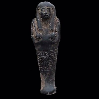 EGYPTIAN HIEROGLYPHIC SHABTI, LATE PERIOD 664 - 332 BC (8) LARGE 11 Cm