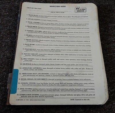 "RARE 1940s INTERNATIONAL HARVESTER Dealers ""INSPECTION GUIDE"" LOT...L@@K!"