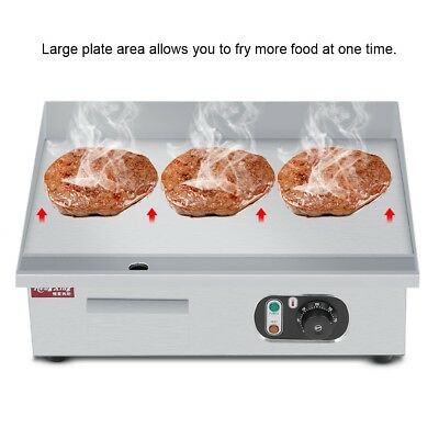 3000W Electric Griddle Commercial BBQ Grill Stainless Steel Countertop Hot Plate