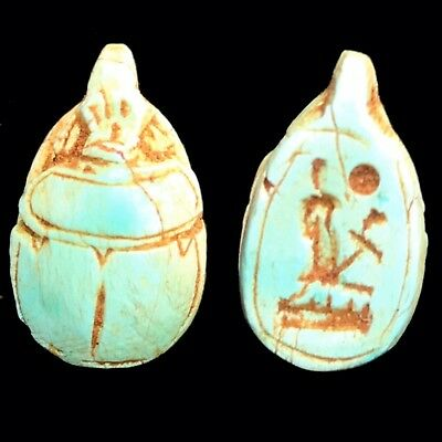 Beautiful Ancient Egyptian Scarab Amulet 300 Bc (16)
