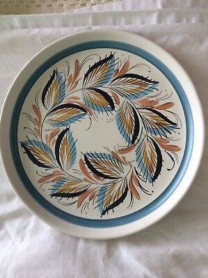 Denby Stoneware Decorative Plate With Unusual Colour Way